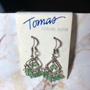 Tomas Sterling Silver Earrings green